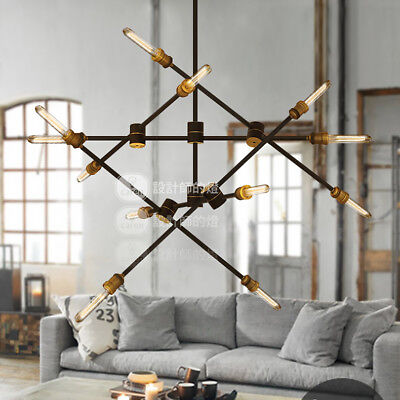 Line Wave Linear Suspension Chandelier Kinetic Light Ceiling Lamp Home -