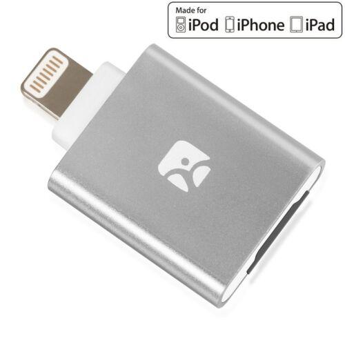Meenova Dash-i MicroSD Reader for iPhone/iPad/iPod with Lightning Port, Gray