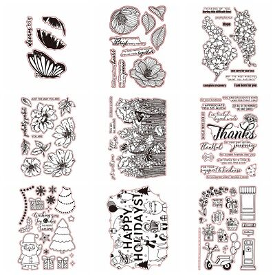 Flowers Holiday Stamps Transparent Clear Silicone Stamp/Seal Scrapbooking Album - Clear Stamps
