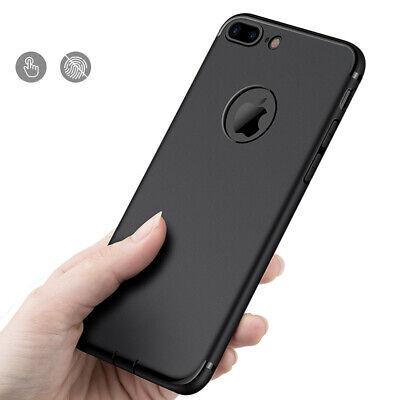 Handy Hülle Bumper Slim Case schwarz Silikon für iPhone 6 6S 7 8 X XS XR XS MAX Slim Case
