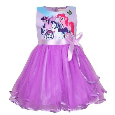 US STOCK Girls  Kids My Little Pony Pink Puple Party Birthday Fancy Dress O9