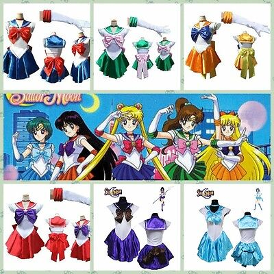 Sailor Moon Costume Kostüm Cosplay Anime Uniform Fancy Dress Gloves (Sailor Dress Fancy Dress Kostüme)