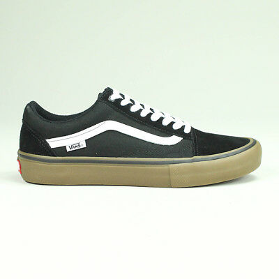 Vans Old Skool Pro Trainers Shoes Black/White/Gum UK Sizes 4,5,6,7,8,9,10,11,12