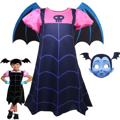 Kids Girls Vampirina Costume Halloween Party Cartoon Cosplay Sets Fancy Dress  - Halloween Costume Sets