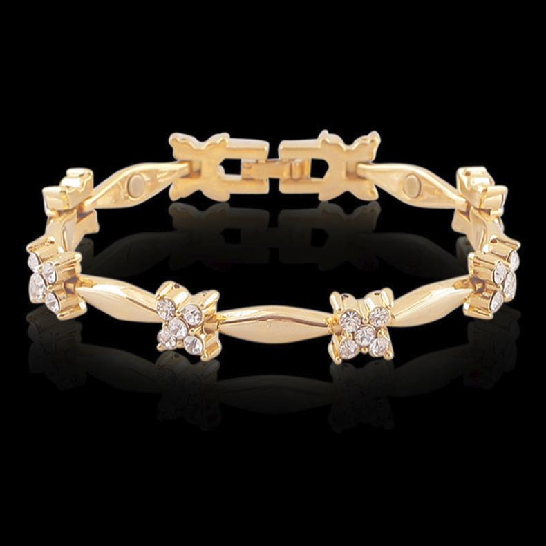 18 karat Armspange Armreif Goldkette 21cm  für Frauen Damen vergoldet Arm Kette
