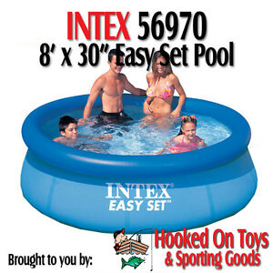 Intex 8 ft x 30 in round easy set above ground swimming for 8 ft garden pool