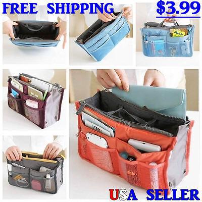 Bag - Women Purse / Lady Handbag Tote Organizer Insert Travel, Diaper Bag, Multi Pouch