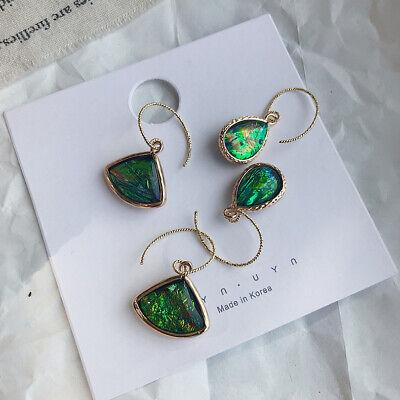 Oval Shell Earrings - Women Fashion Resin Abalone Shell Oval Drop Dangle Earrings Wedding Jewelry