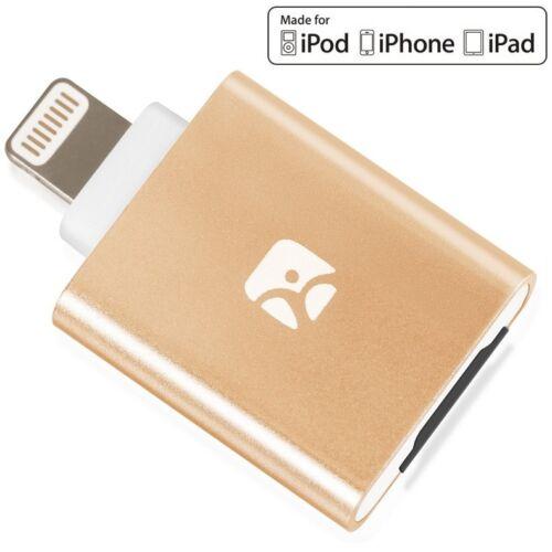 Meenova Dash-i MicroSD Reader for iPhone/iPad/iPod with Lightning Port, Gold