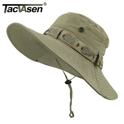 TACVASEN Anti-UV Tactical Sniper Hat Boonie Army Caps Military Wide Brim Buckets - Military Hat
