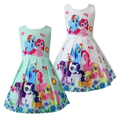 Girls Skater Dress Kids My Little Pony Print  Casual Party Birthday Dresses L26 - Little Girls Birthday Party