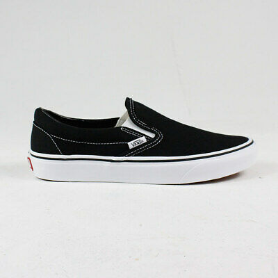 Vans Classic Slip-On Trainers in Black/White in UK Size 3,4,5,6,7,8,9,10,11,12