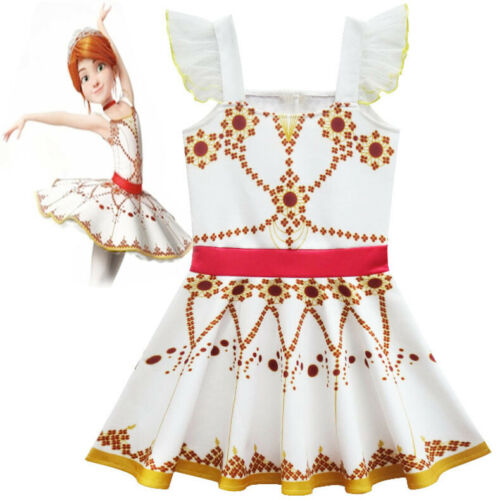 Girls Movie Ballerina Leap! Felicie Dress New Costume Tutu Skirt Dress