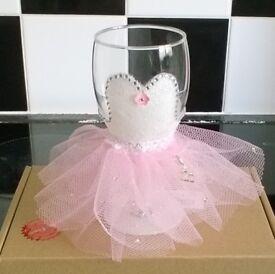 Glitter glass gift set