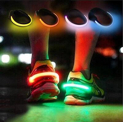 LED Luminous Shoe Clip Light Night Safety Warning Running Sports  - Led Shoe Lights