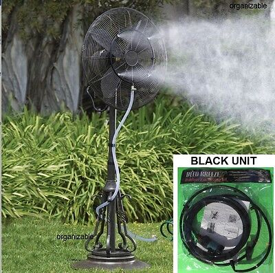 add to fan MISTING KIT outdoor mist sprinkler spray water attachment mister hose