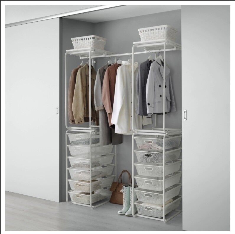 open wardrobe storage ikea algot in angel london. Black Bedroom Furniture Sets. Home Design Ideas