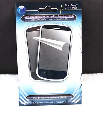 New Blackberry Bold 9000 Screen Protector 2 Pack w/Cloth NOS