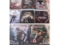 PlayStation 3 games x 8 - Two new - 6 used.