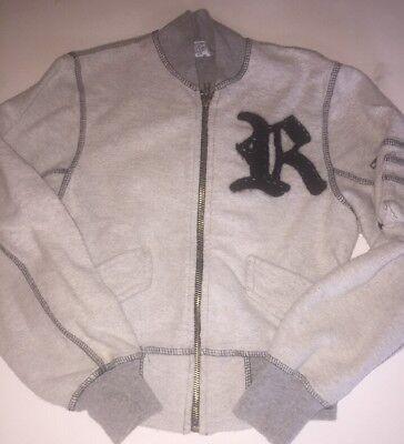 Childrens Designer Boutique (EUC RILEY designer Boutique Brand Girls/kid Zip Sweatshirt Gray Sz)