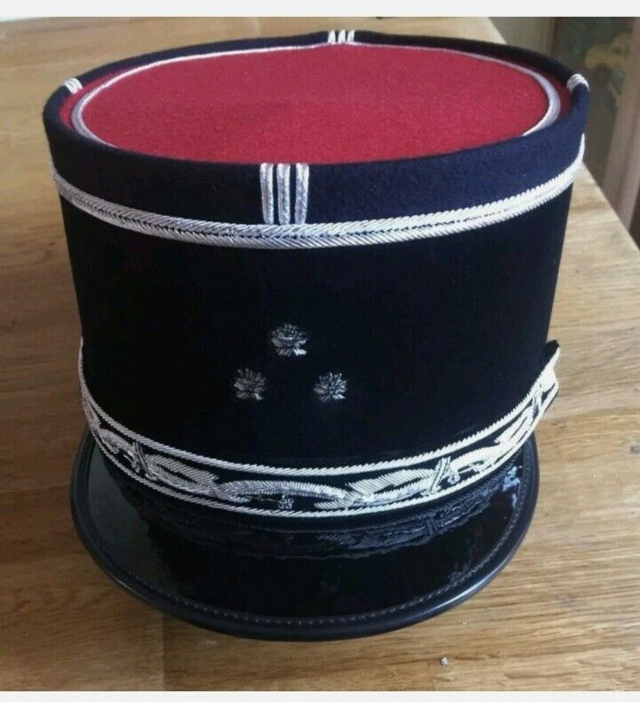 french fireman general. Officer cap