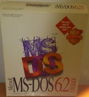MS-DOS 6.2 with box + 3.5 & 5.25 in floppies + manuals