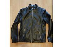 Leather jacket mens medium