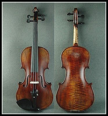 Vintage Style   beautiful Hand Made 4/4 Antique Violin / Free Case & Bow
