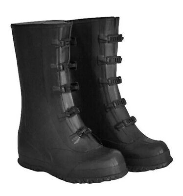 Boss Five Buckle Rubber Boots Over The Shoe 14 In. Tall Metal Buckles Size 14