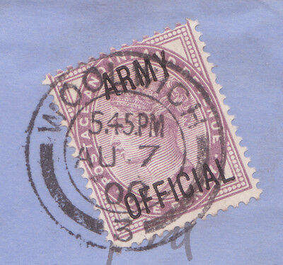 """SG 043  1d Lilac """"Army Official"""" Overprint  Army Pay Office / Woolwich Cat £100"""