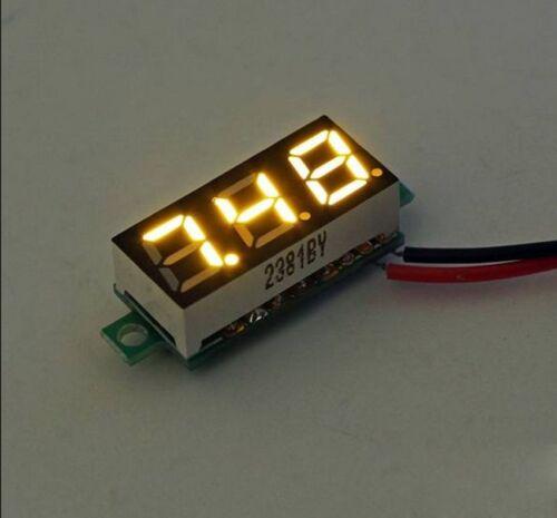 2.6V-30V 0.28inch Mini LED Display Digital Voltmeter Voltage Tester Meter Yellow