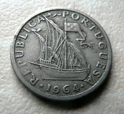 1964  PORTUGAL  2$50  ESCUDOS COIN