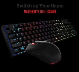 Cooler Master: MasterKeys Lite L Combo RGB Keyboard and mouse