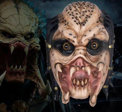 PREDATOR Full head Latex Halloween Movie Horror Costume Mask Cosplay (Full Predator Halloween Costumes)