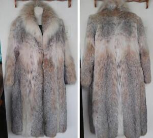 REAL LYNX FUR $5000 Long Coat M 36 38 Coat Long Thick Beautiful Real Made in Canada Brown Unisex style Oakville