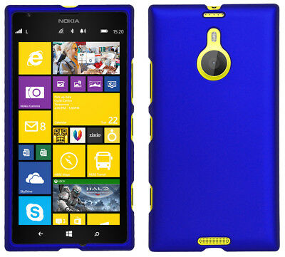 (BLUE RUBBERIZED PROTEX HARD CASE PROTECTOR COVER FOR AT&T NOKIA LUMIA 1520)