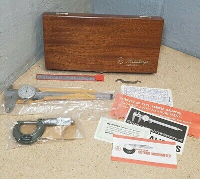 Mitutoyo Precision Tool Kit - 1 Micrometer Dial Caliper 6 Scale - Set New