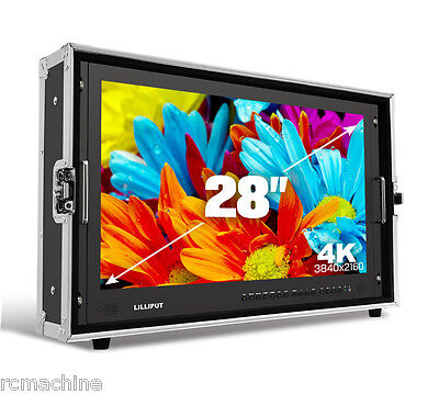 "Lilliput BM280-4K 28"" Broadcast Ultra-HD Monitor SDI,HDMI ,DVI,VGA,TALLY V-mount"