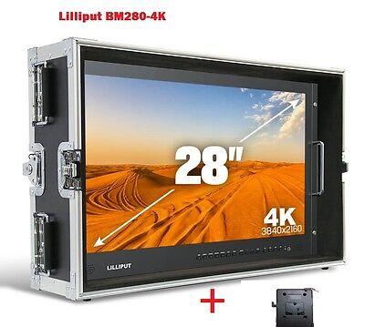 LILLIPUT BM280-4K Broadcast Ultra-HD Monitor w/SDI ,HDMI ,DVI,VGA,TALLY+ V Mount