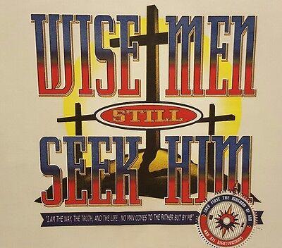 CHRISTIAN OUTFITTERS WISE MEN STILL SEEK HIM  JESUS #1127 LONG SLEEVES (Wise Men Still Seek Him T Shirt)