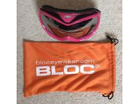 BLOC SKI GOGGLES X 2 - USED ONCE, DOUBLE LENS, ANTI-FOG TREATMENT