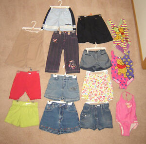 Girls Shorts, Tops, Swimsuits, Pants - size 6, 7, 8