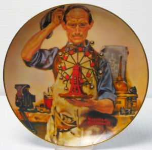 "Norman Rockwell ""The Inventor"" Collector Plate"