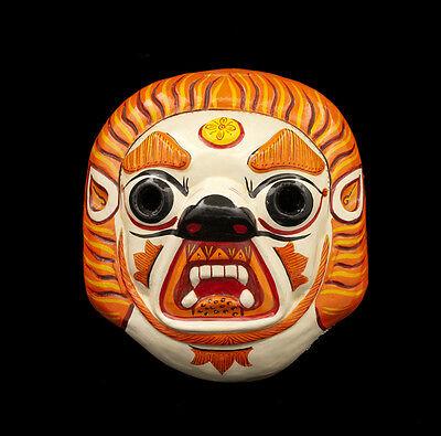 Mask Nepalese Narshingh Lion Indra Jatra Festival Nepal Paper Mache 8296