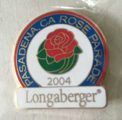 LONGABERGER Homestead 2004 Pasadena, CA Rose Parade Pin -- NEW SEALED