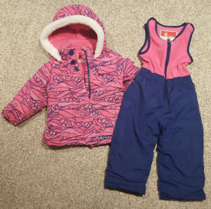 WINTER JACKET AND SNOWPANTS PINK SIZE 2T $25
