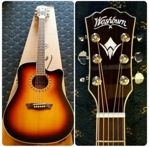 Washburn WD10SCE Acoustic/Electric (Electric Uninstalled)