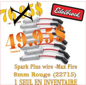 LIQUIDATION - Edelbrock  - Spark Plug Wire Max-Fire 8mm (22715)
