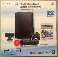 PS3 320GB + 4 controllers/manettes (2move+2reg) + 12 games/jeux
