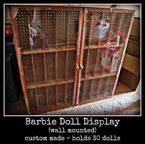 BARBIE ~ WALL MOUNTED DISPLAY CASE Kitchener / Waterloo Kitchener Area image 1